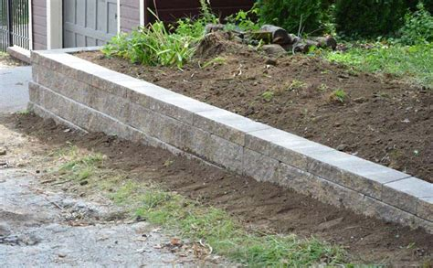 retaining wall design with sloping backfill landscape design