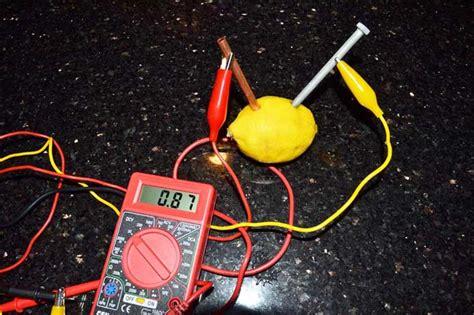 fruit electricity lemon battery potato battery science with