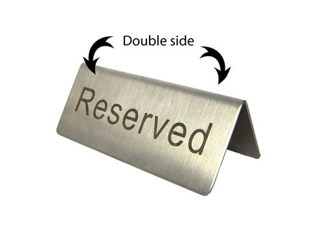 awesome reserved signs for tables 9 reserved table sign