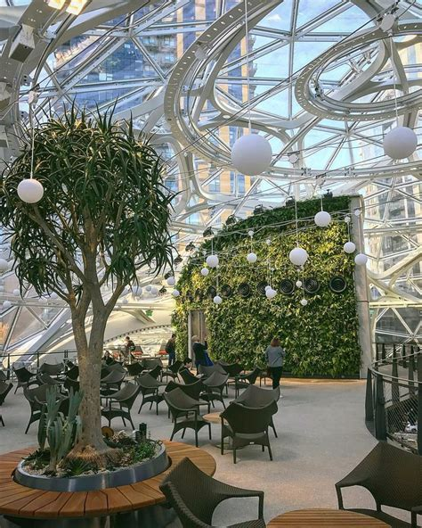 dome greenhouse spheres bring green space  amazon