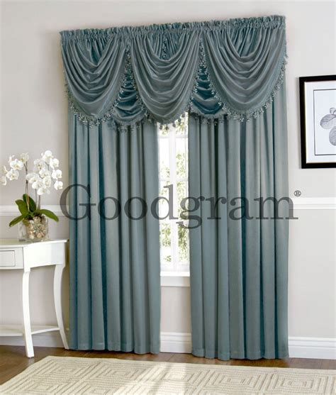 waterfall curtain valance new window curtain waterfall single fringed valance only
