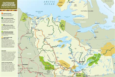 map of canada with territories northwest territories travel map