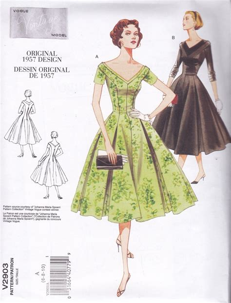 pattern weights co uk vogue vintage 1957 sewing pattern misses fitted dress