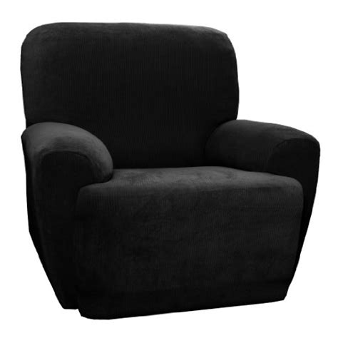 Maytex Collin Stretch 4pc Slipcover Black Recliner