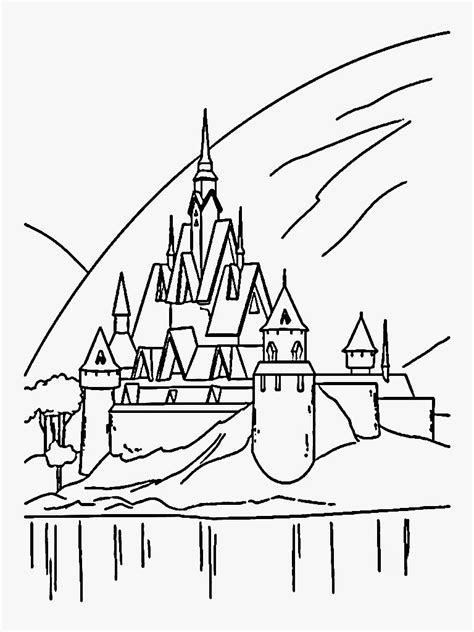 frozen coloring pages elsa castle castle elsa coloring pages
