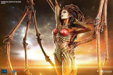 amazing life sized starcraft queen of blades statue photo arise kerrigan queen of blades sideshow collectibles
