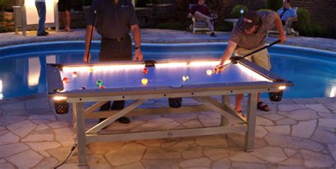 outdoor pool table prices outdoor pool table features built in lighting for