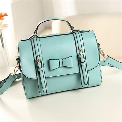 Korean Simply Fashion Bag Broken White the new retro bow handbags korean fashion