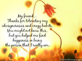 thank you messages for friends quotes and notes