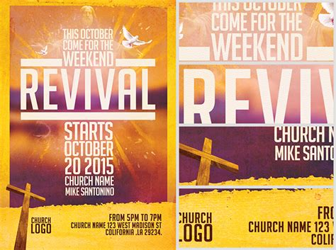 free church templates for flyers church revival flyer template flyerheroes