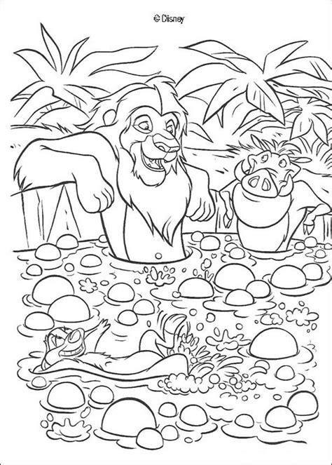 lion king broadway coloring pages simba timon und pumbaa baden zum ausmalen de hellokids com