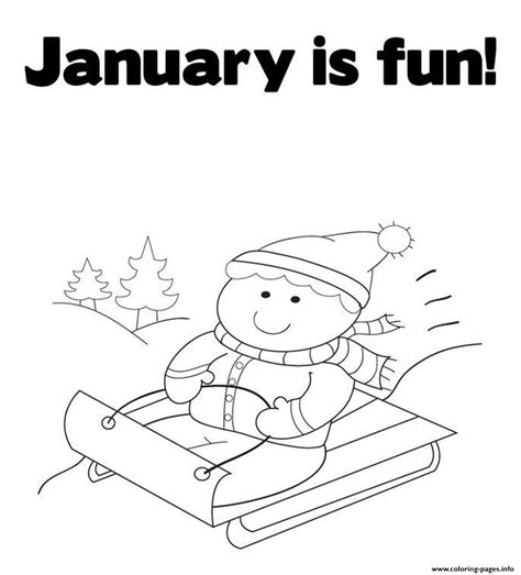 Printable January Coloring Sheets Janice S Daycare January Coloring Page