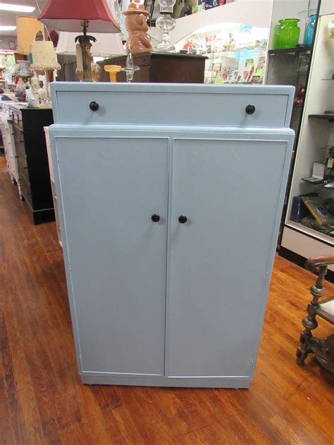 armoire with hanging space blue armoire dresser with shelves drawer and hanging space