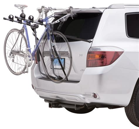 Trunk Mount Bike Rack For Car With Spoiler by Compare Sportrack 3 Bike Vs Racks Etrailer