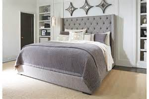 King Size Platform Bed With Drawers And Headboard - sorinella queen upholstered bed ashley furniture home store