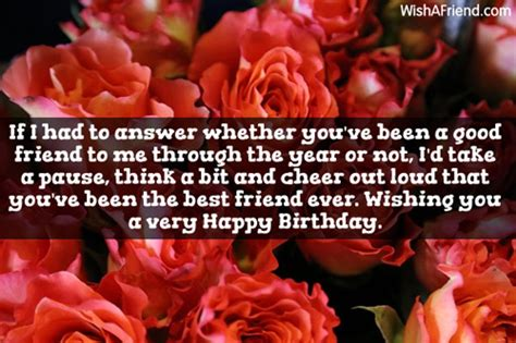 Answer To Happy Birthday Wishes If I Had To Answer Whether Friends Birthday Message
