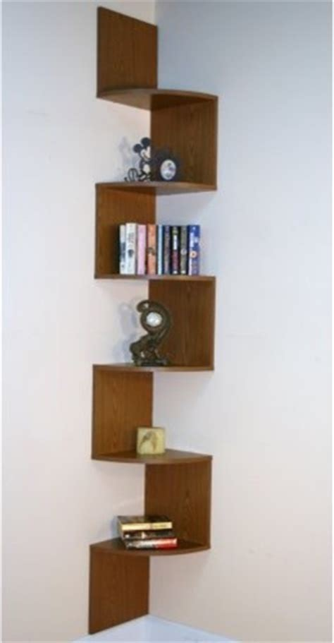 premier 6 shelf corner bookcase oak contemporary
