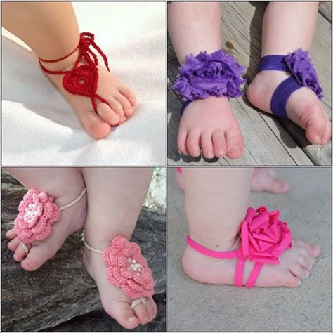 barefoot baby sandals baby clothes diy baby girls barefoot sandals