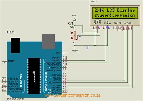 Lcd Arduino 2x16 interfacing lcd display with arduino student companion
