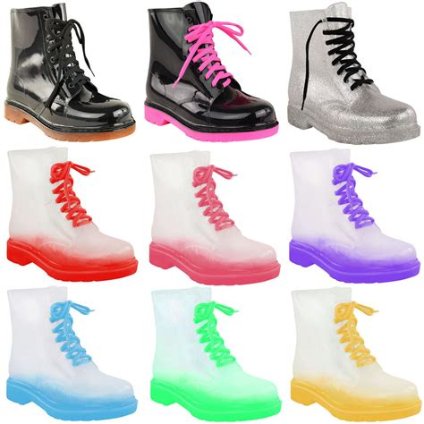 jelly boots new womens festival wellies jelly boots flat low
