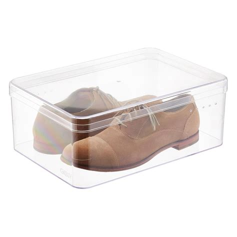 mens shoe storage boxes s shoe box the container store
