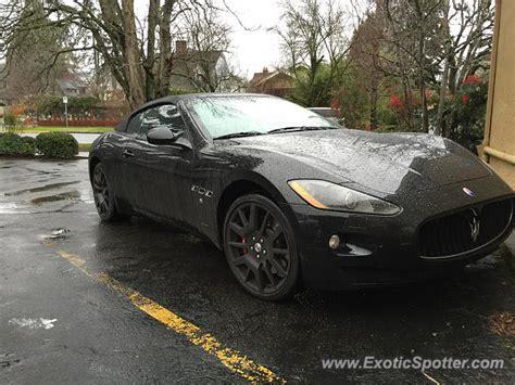 Maserati Portland by Maserati Grancabrio Spotted In Portland Oregon On 01 14 2016