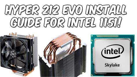 evo 212 fan size how to install a cooler master hyper 212 evo on intel 1151