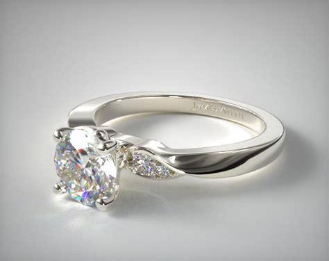 blossoming vine engagement ring 14k white gold