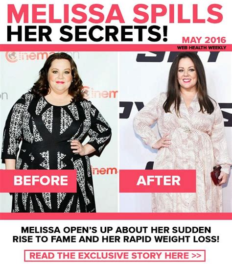melissa mccarthy weight loss mccarthy reveals the secret melissa mccarthy weight loss mccarthy reveals the secret