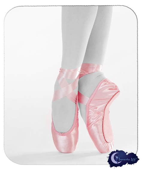 pink ballet pointe shoes mouse pad by insomniacarts on etsy