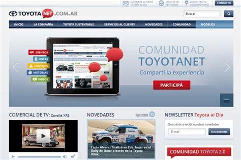 pagina oficial de toyota toyota lanz 243 un nuevo sitio web 2 0