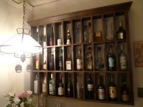 liquor shelf rustic shelves and liquor storage