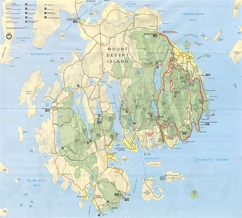 acadia national park map united states national parks and monuments maps perry casta 241 eda map collection ut library