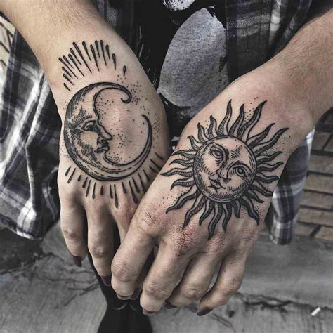 traditional sun tattoo sun moon moon and tatting