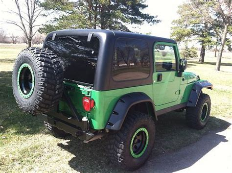 Lime Green Lifted Jeep Find Used Jeep Wrangler Rubicon Tj 2004 Electric Lime