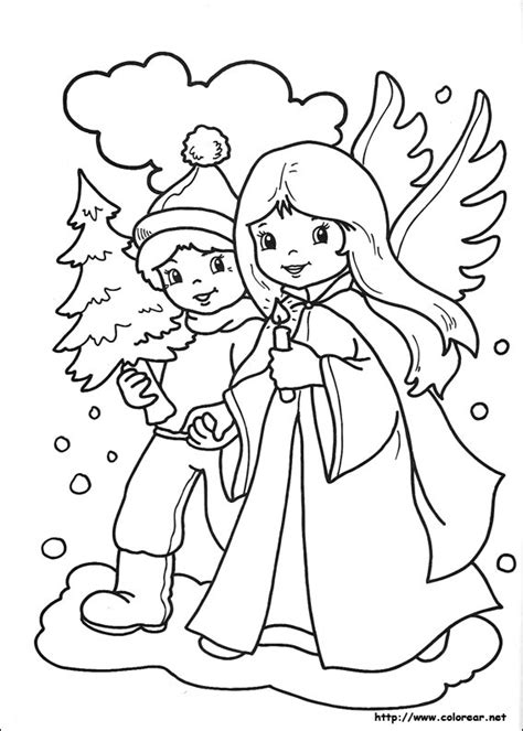 carta canta verbo volant dibujos para colorear de navidad
