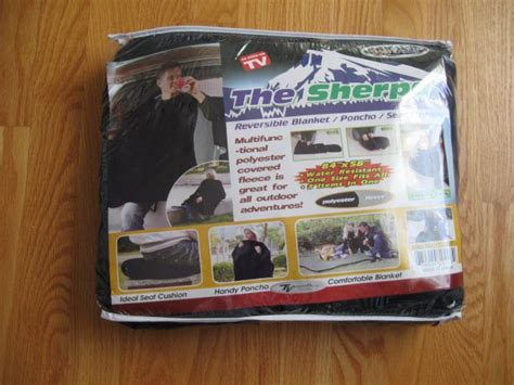 As Seen On Tv Blankets by The Sherpa As Seen On Tv Reversible Navy Fleece Poncho