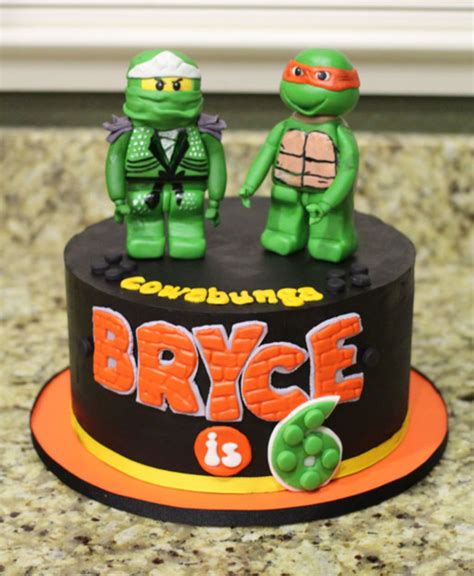 Ninjago And Tmnt Combo Cake   CakeCentral.com
