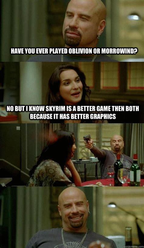 Morrowind Memes - skyrim vs morrowind and oblivion memes quickmeme