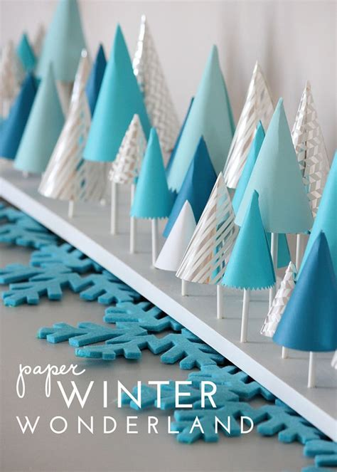 winter decorations diy paper winter decor mantels winter and holidays