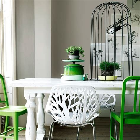The Botanical Dining Room by Modern Botanical Dining Room With Birdcage Light