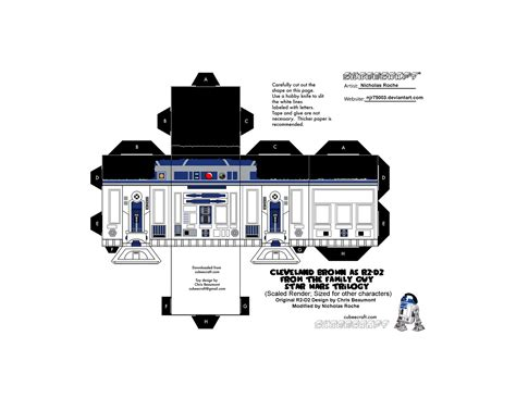 R2d2 Papercraft - r2 d2 papercraft r2dto