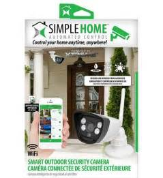 simple home wifi outdoor security with motion