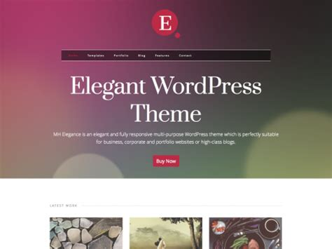 mh elegance elegant business wordpress theme