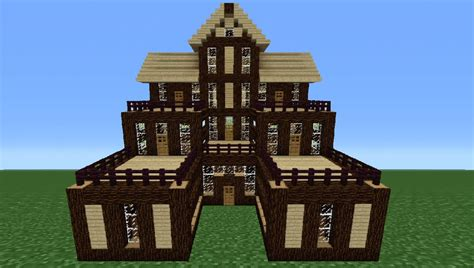 wooden house in minecraft minecraft tutorial how to make a wooden house 6 youtube