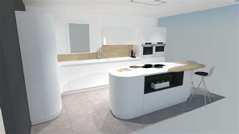 cuisine blanche et bois cuisine moderne blanche et bois