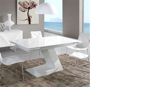 Table Salle A Manger Blanc Laqué 679 by Design Table A Manger