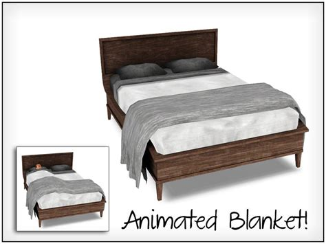 sims 3 beds sim man123 s veiro double bed blanket