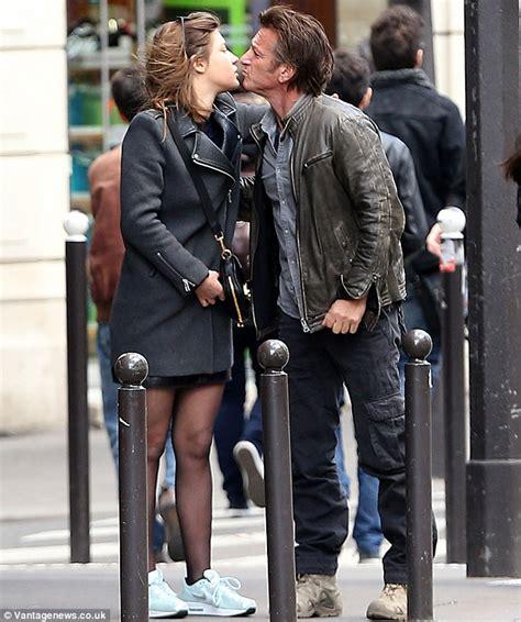 lea seydoux look alike sean penn dines out with parisian actress adele