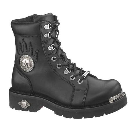 Harley Davidson Men S Diversion Skull 6 Inch Lace Up